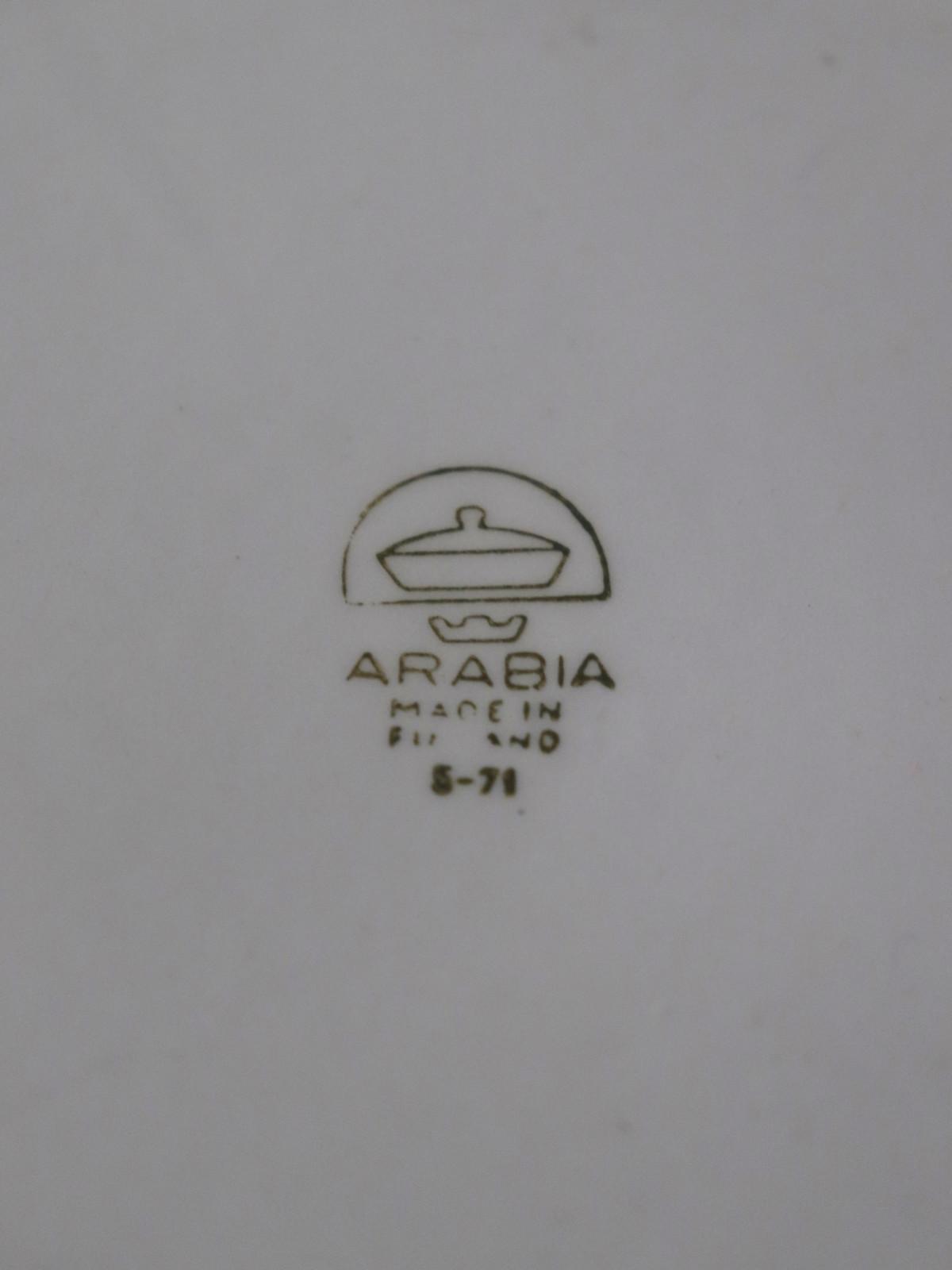 1964's, Arabia,Pottery,Finland