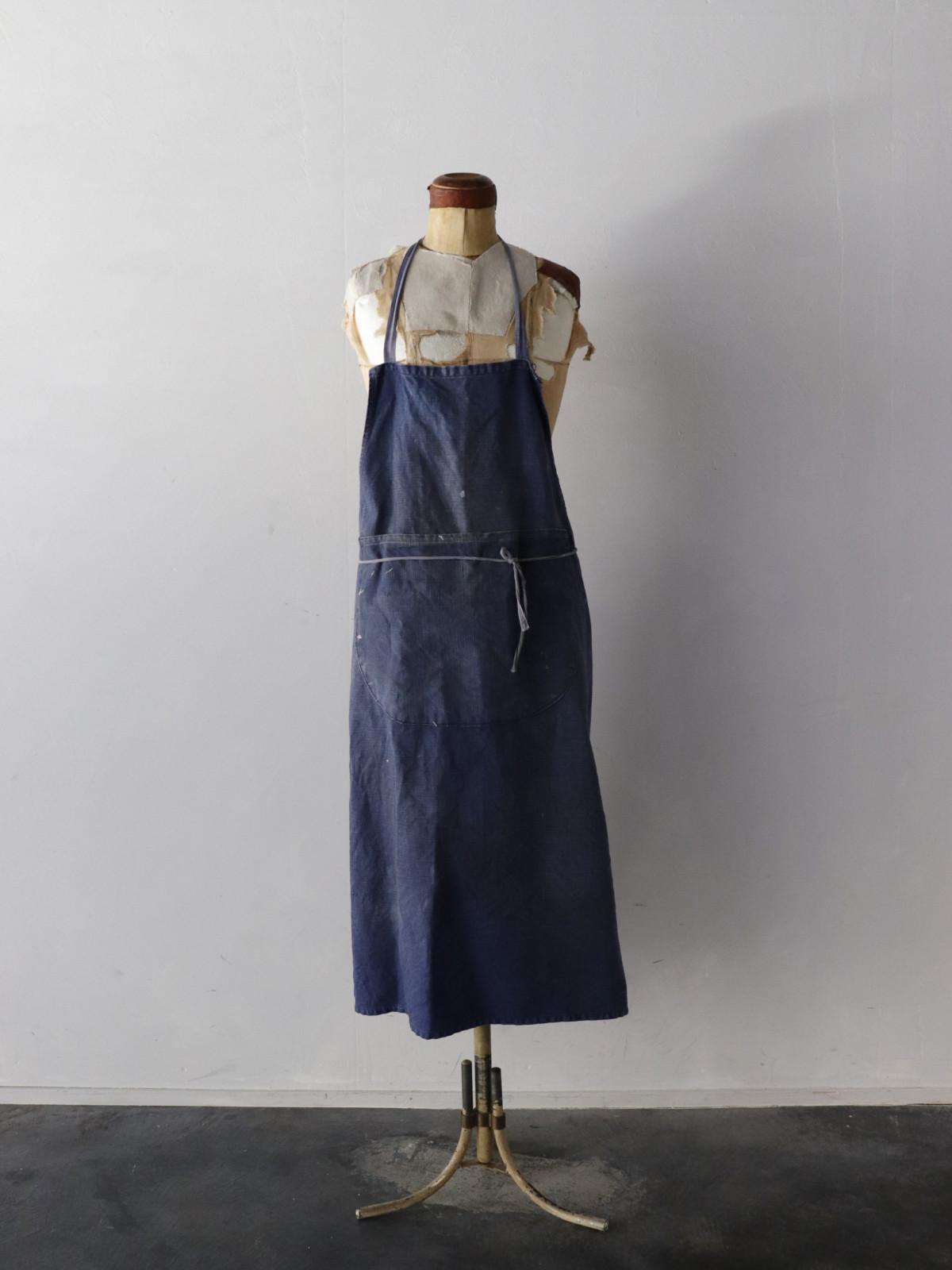 indigo linen,France,apron,