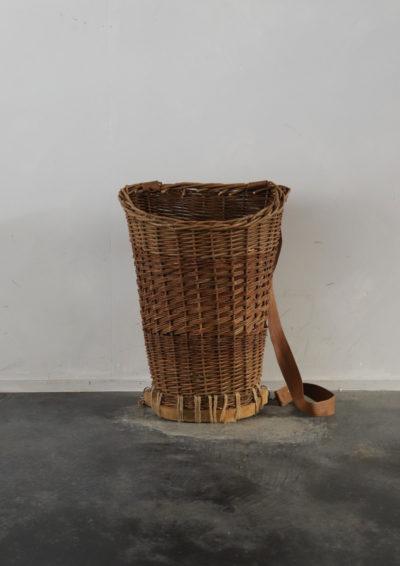 handmade basket sack,USA,Vintage