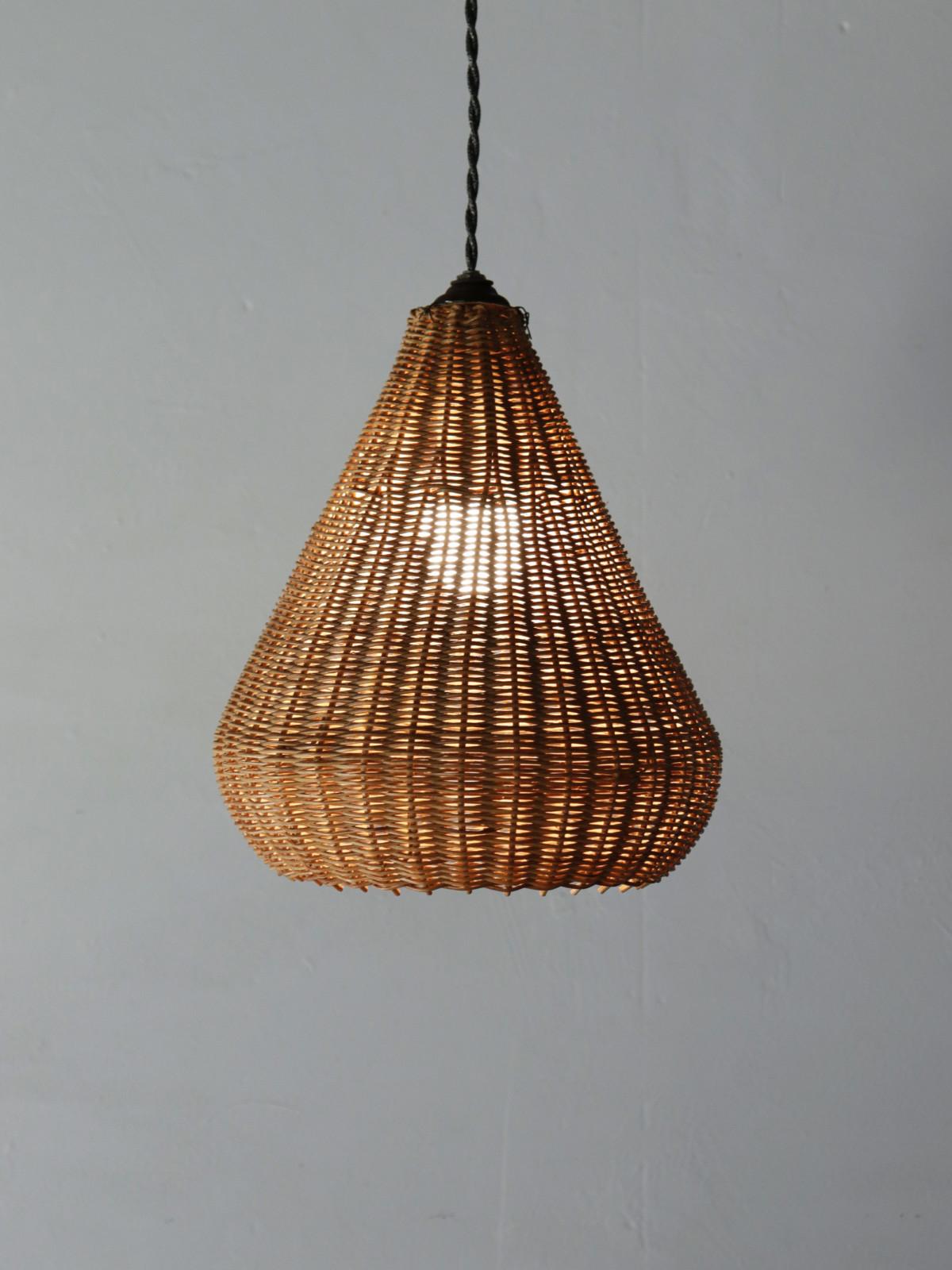 Wicker lamp shade,mcm,USA,