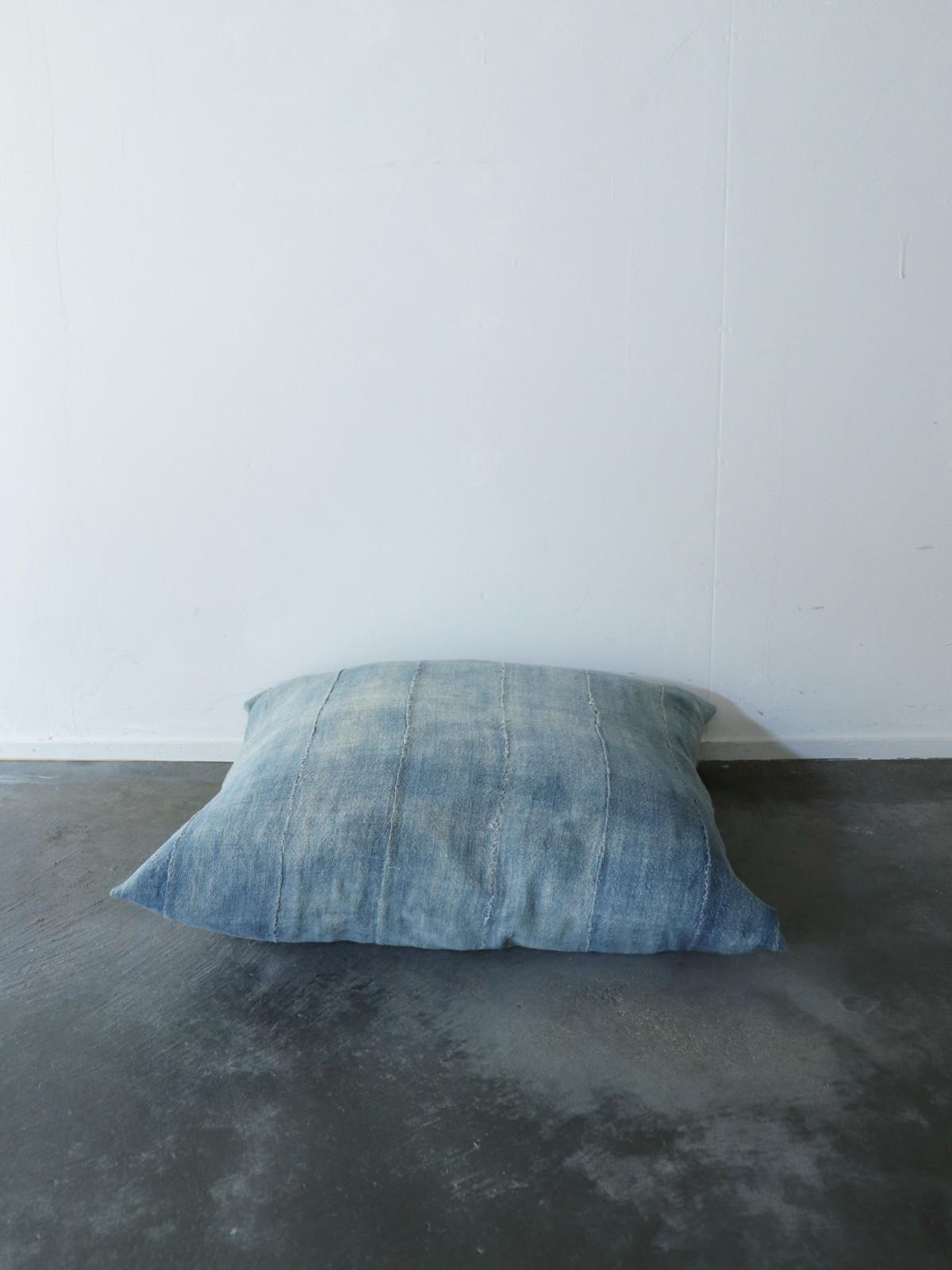 Africa,indigo Cotton,cushion,brown.remake
