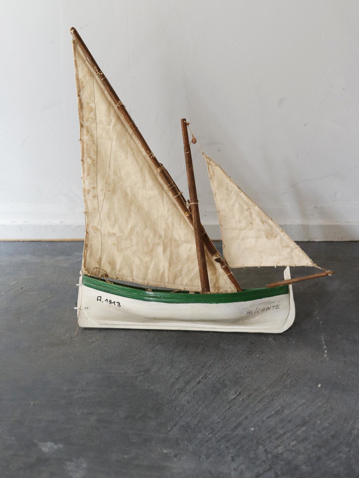 Wood yacht, France,toy,handmade