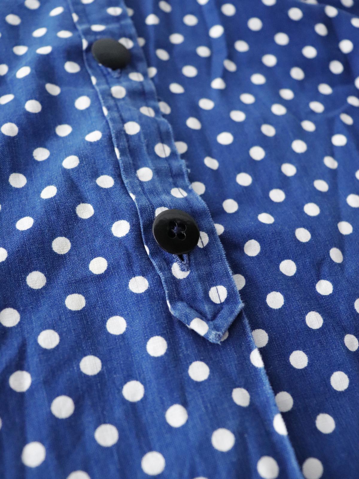 indigo cotton, France, dot