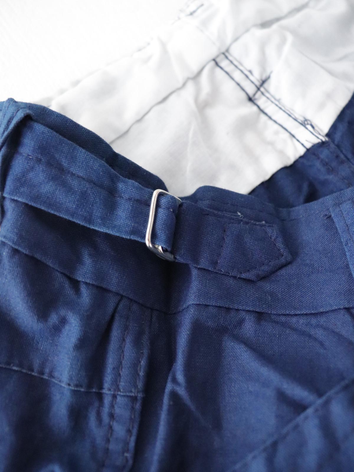 indigo cotton, work pants, France, Dead Stock