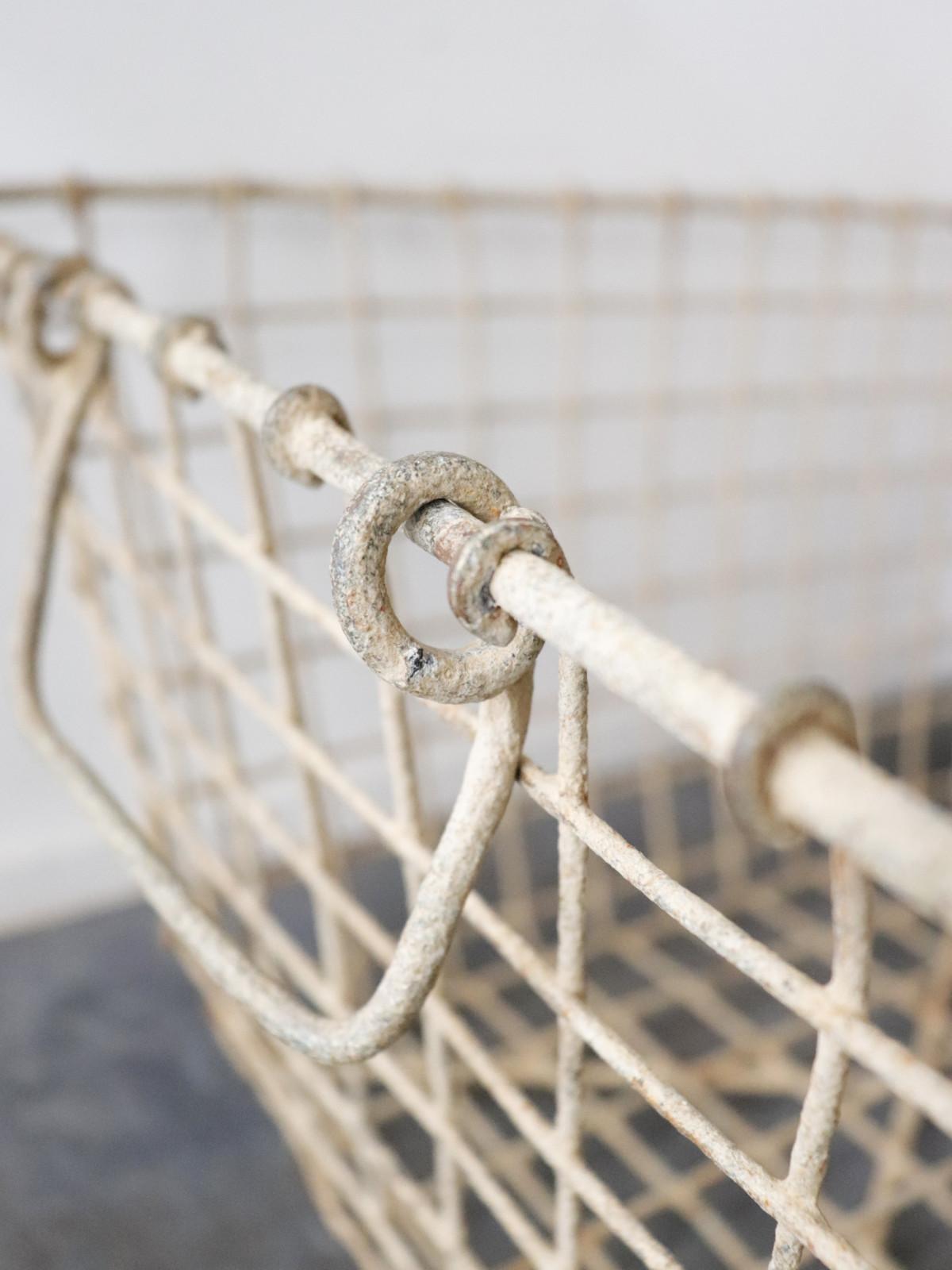 metal, basket,France, vintage