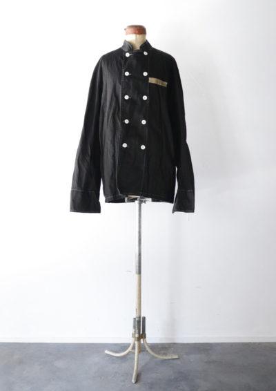 cook jacket, France, Black-dyed ,