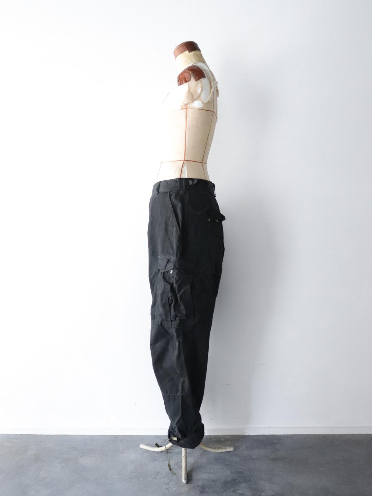 USM, cargo pants, Black-dyed ,