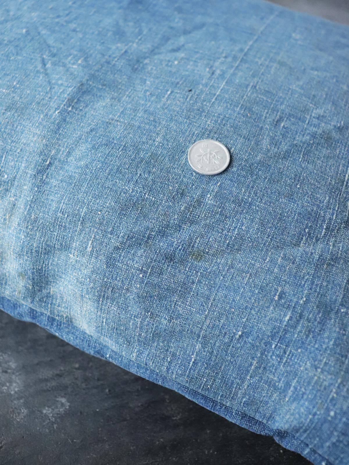 french indigo linen fabric, BROWN.remake,cushion
