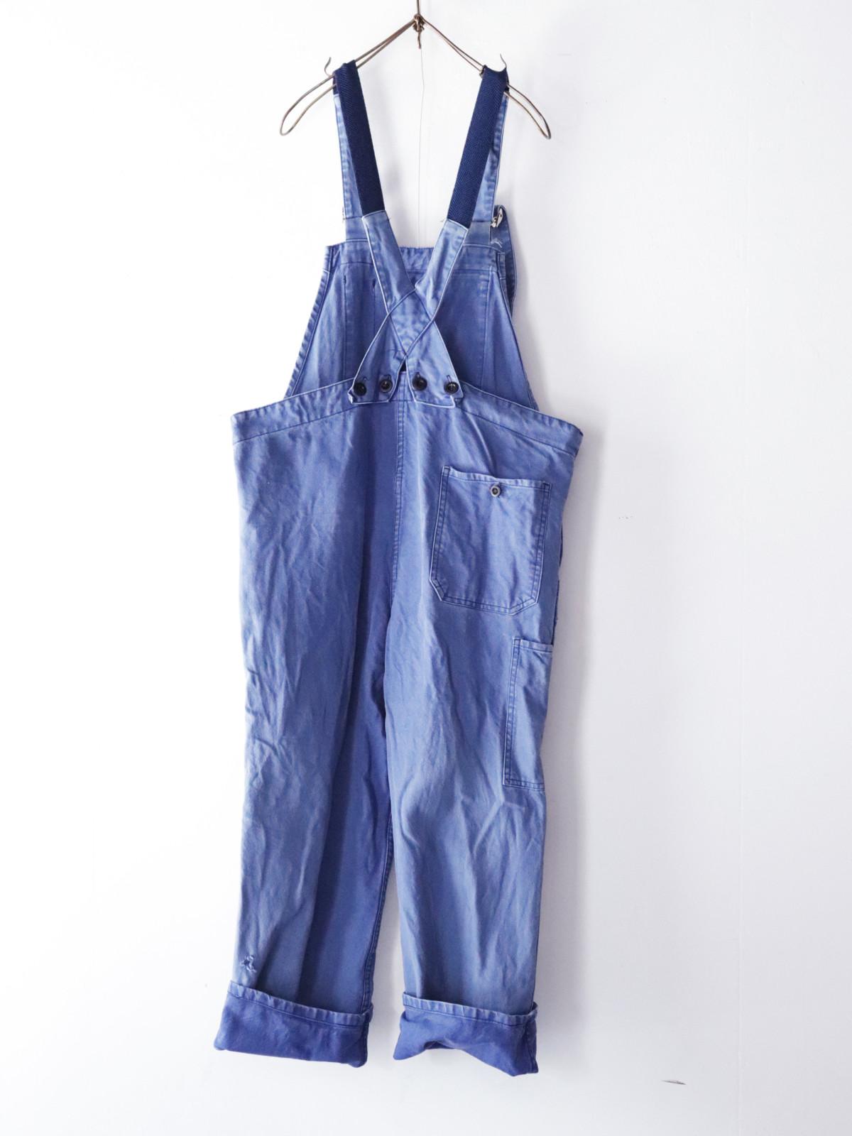Vintage, cotton ,work, overalls,France