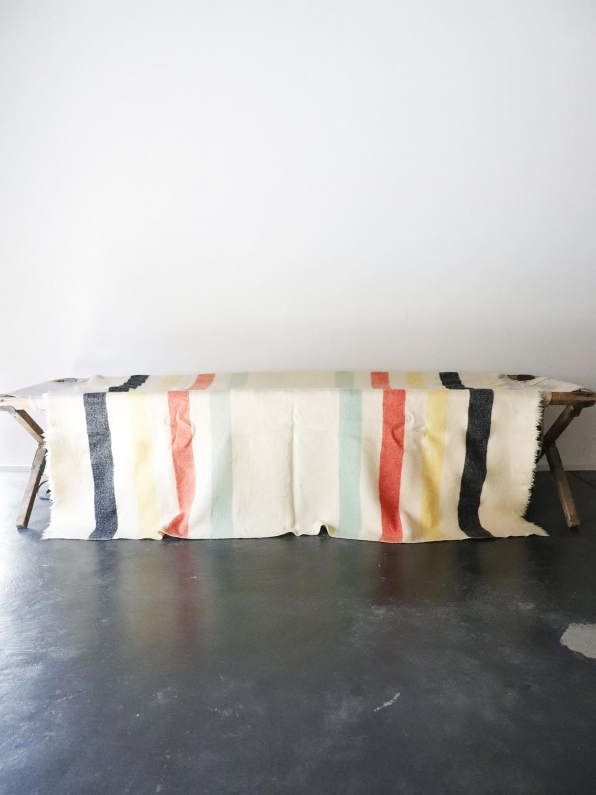 blanket,vintage,usa,damaged,line blanket
