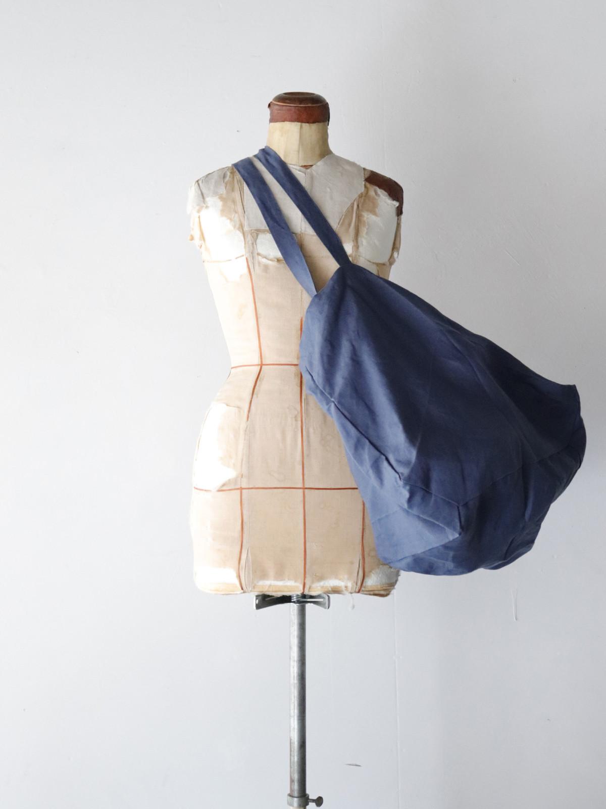 Dead stock,irish linen fabric,brown.remake,big bag