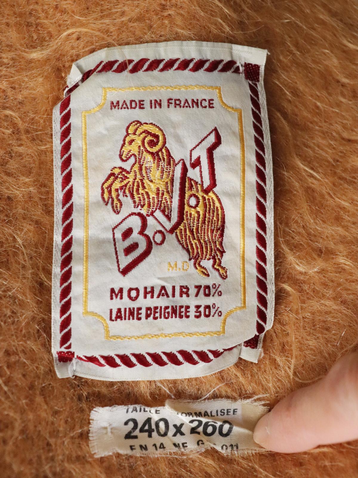 Brun De Vian-Tiran,blanket, vintage, France