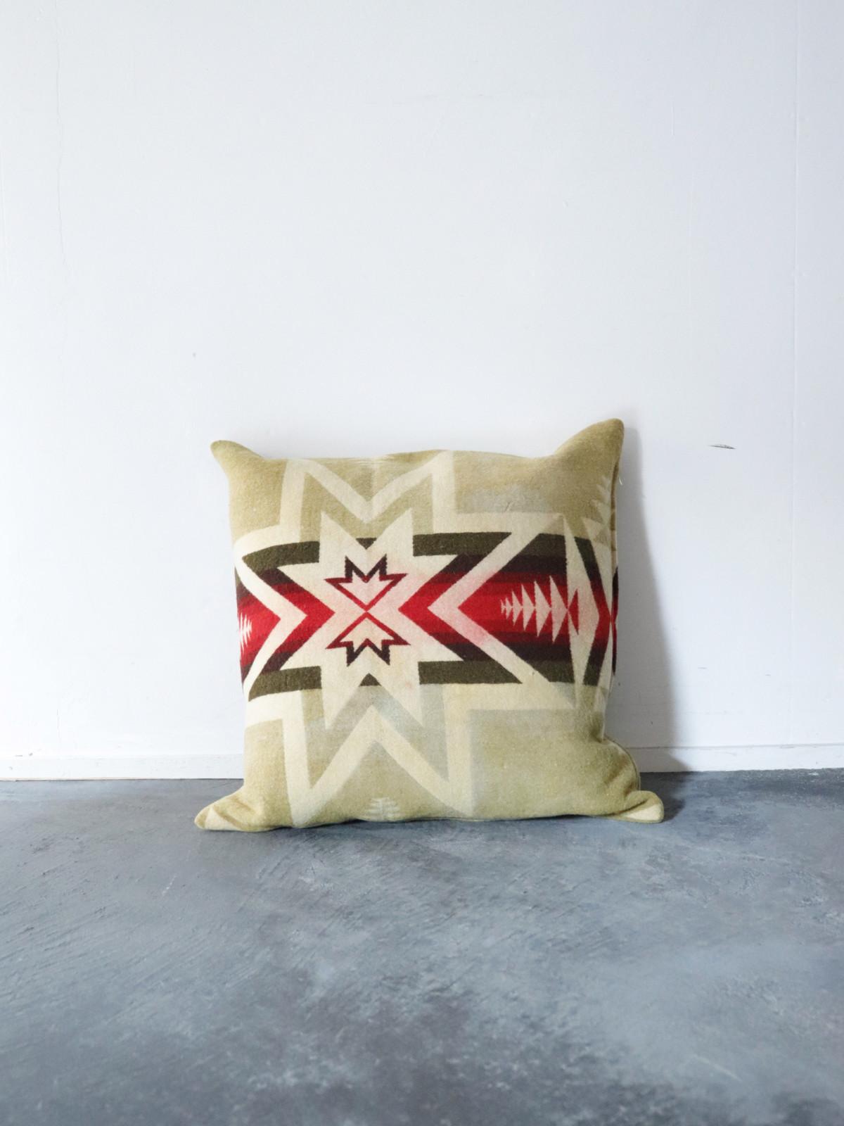 Pendleton blanket,cushion,BROWN.remake,vintage
