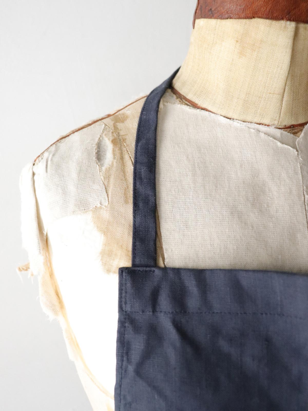Dead stock,irish linen fabric,brown.remake,apron