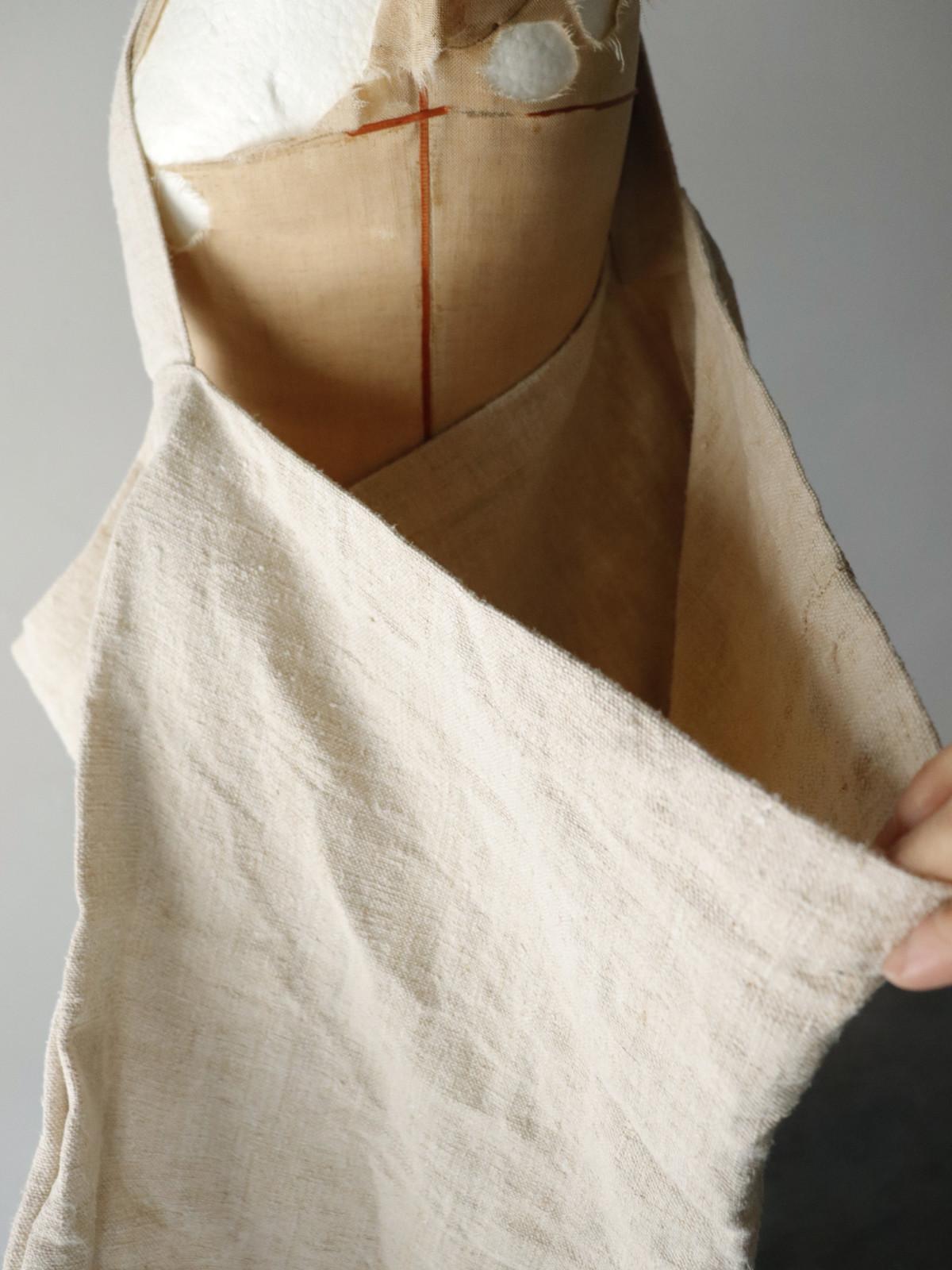 Hungarian linen fabric,BROWN.remake,bag