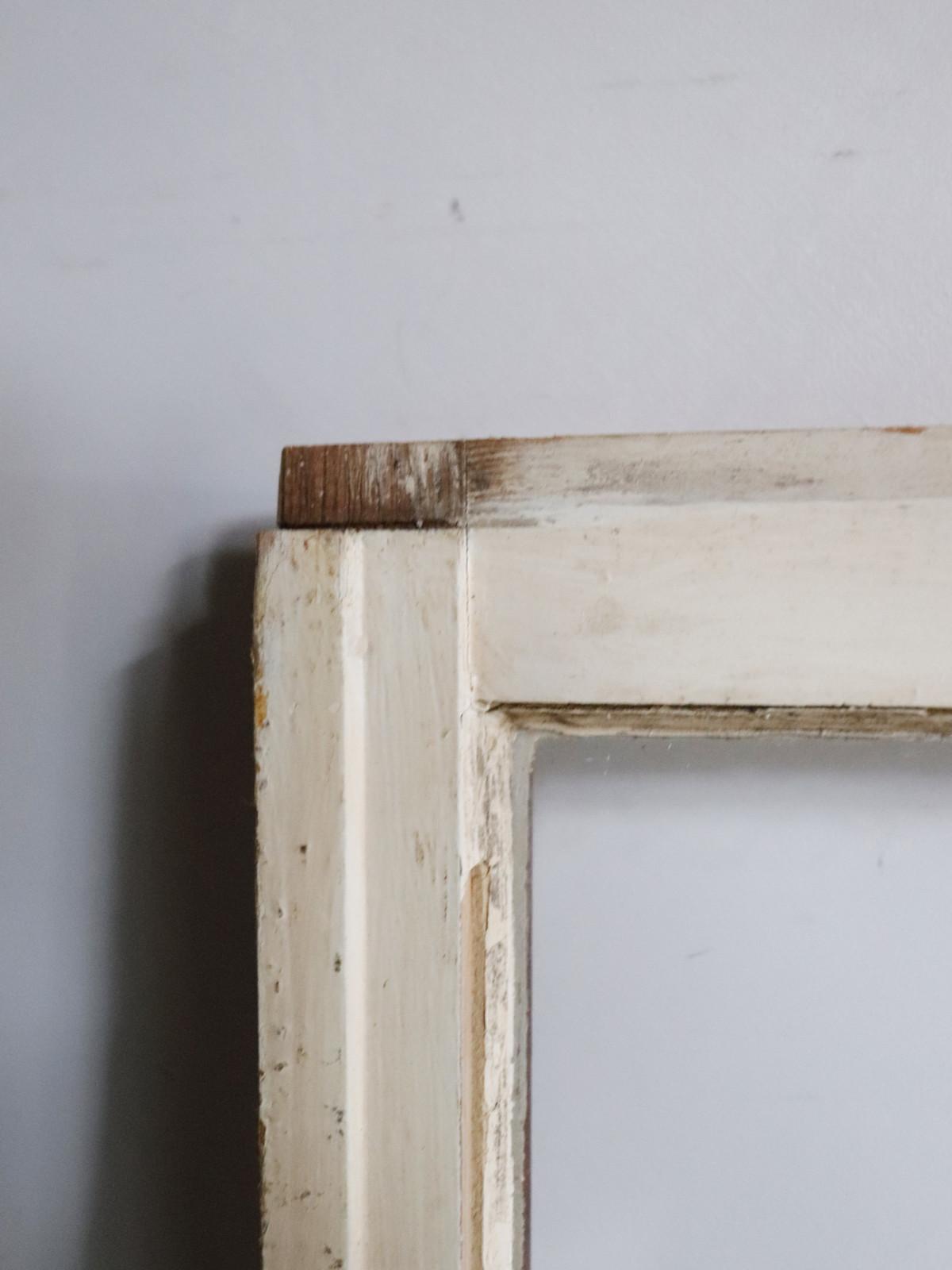 window glass frame white,usa,vintage