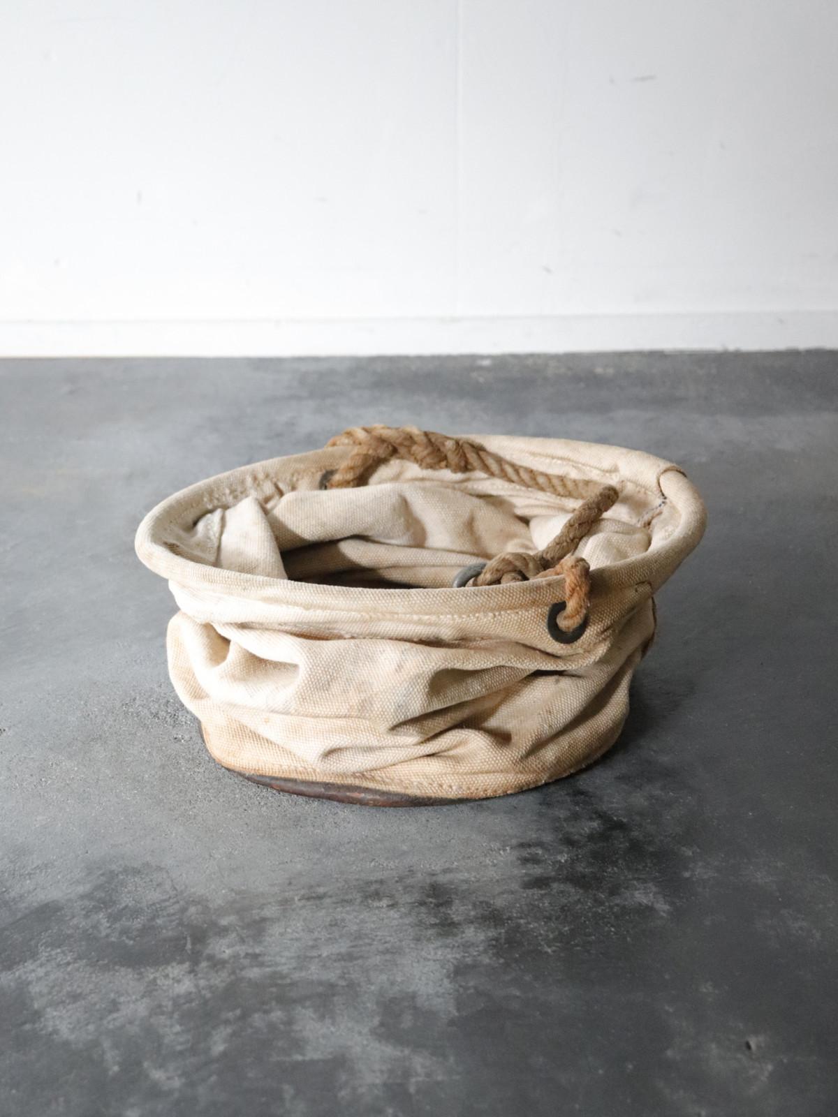 canvas bucket,USA, vintage, folding