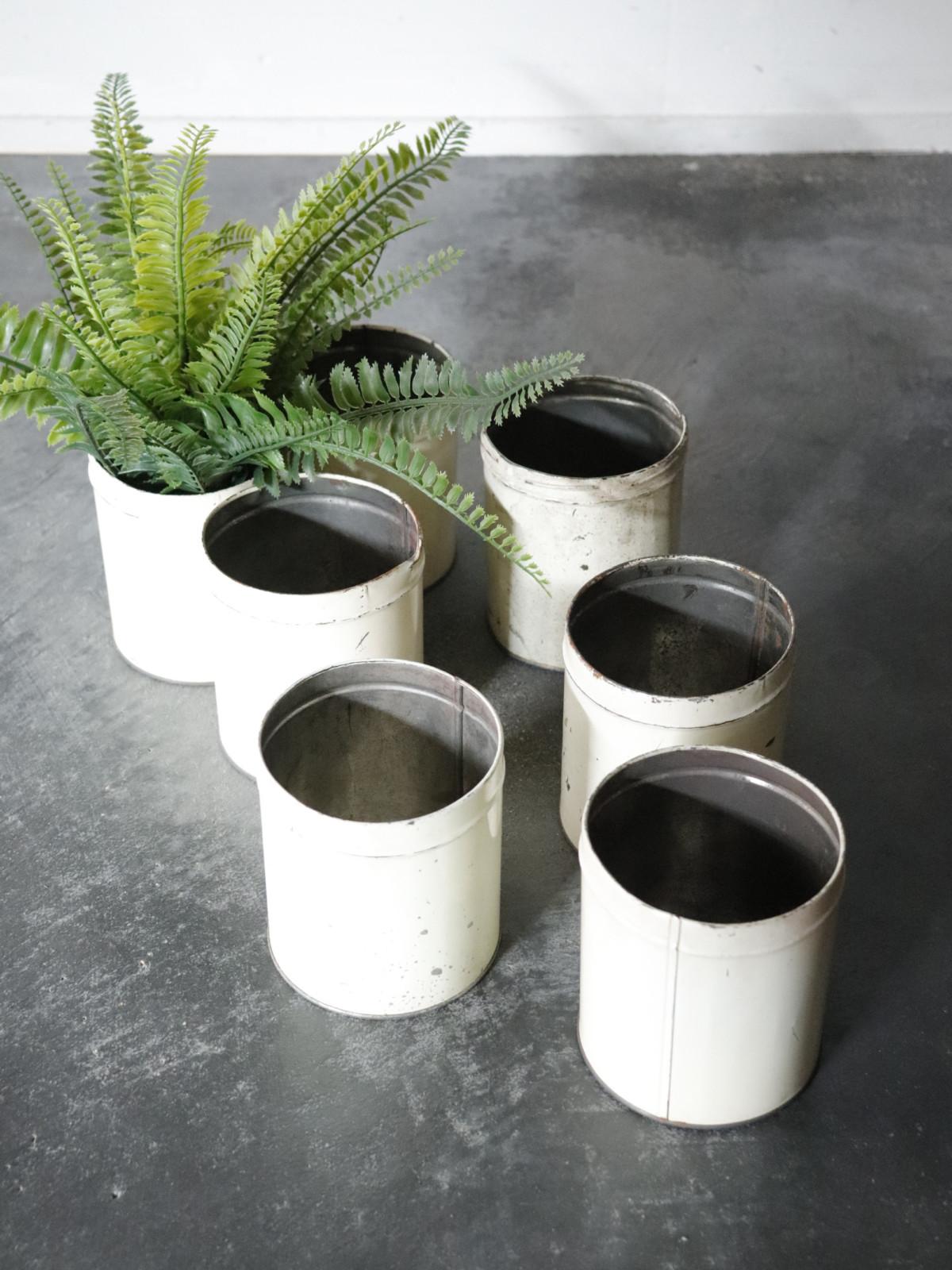 can,vintage,flower pot,USA,