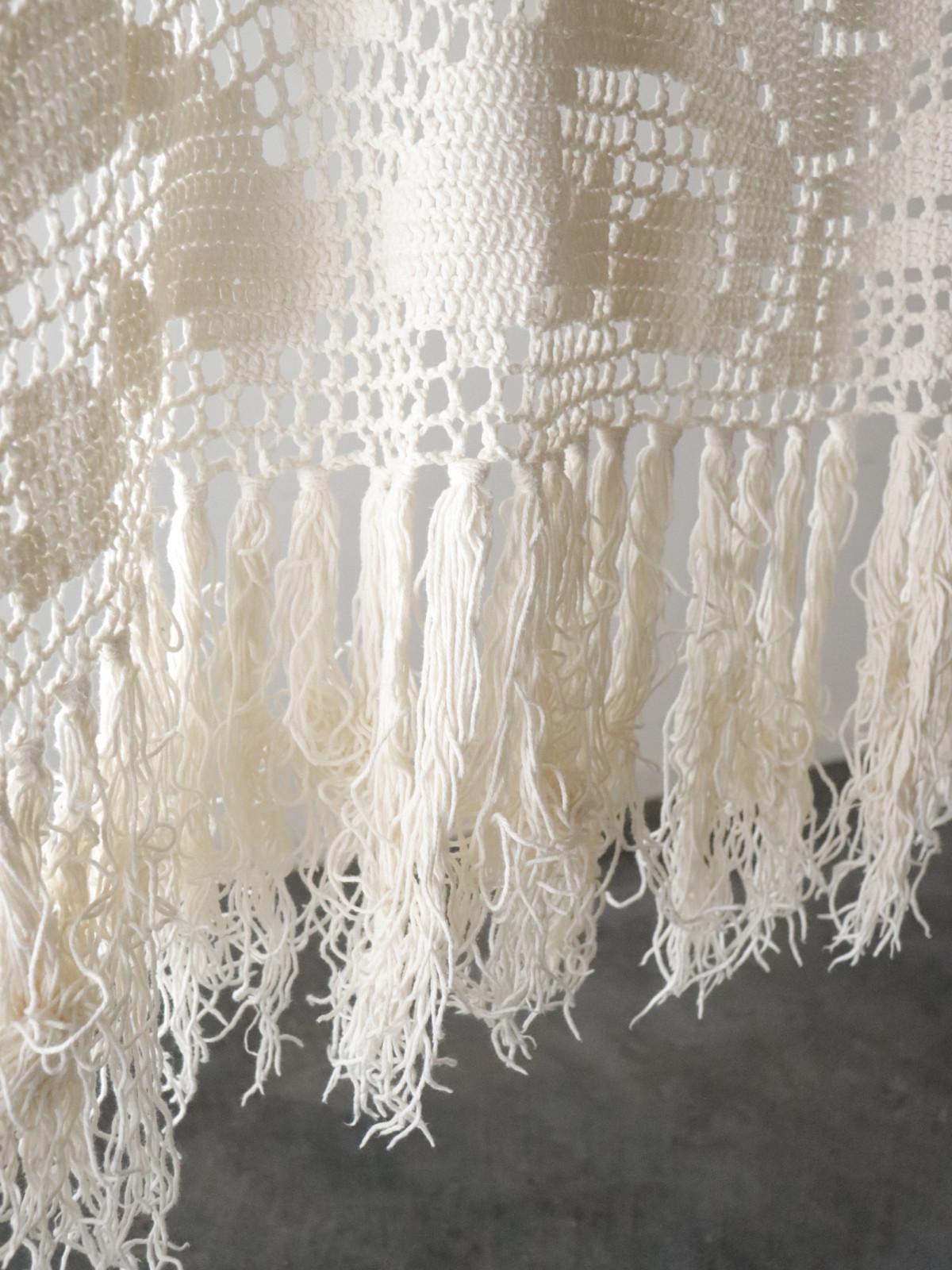 Vintage,cotton,bed cover, crochet