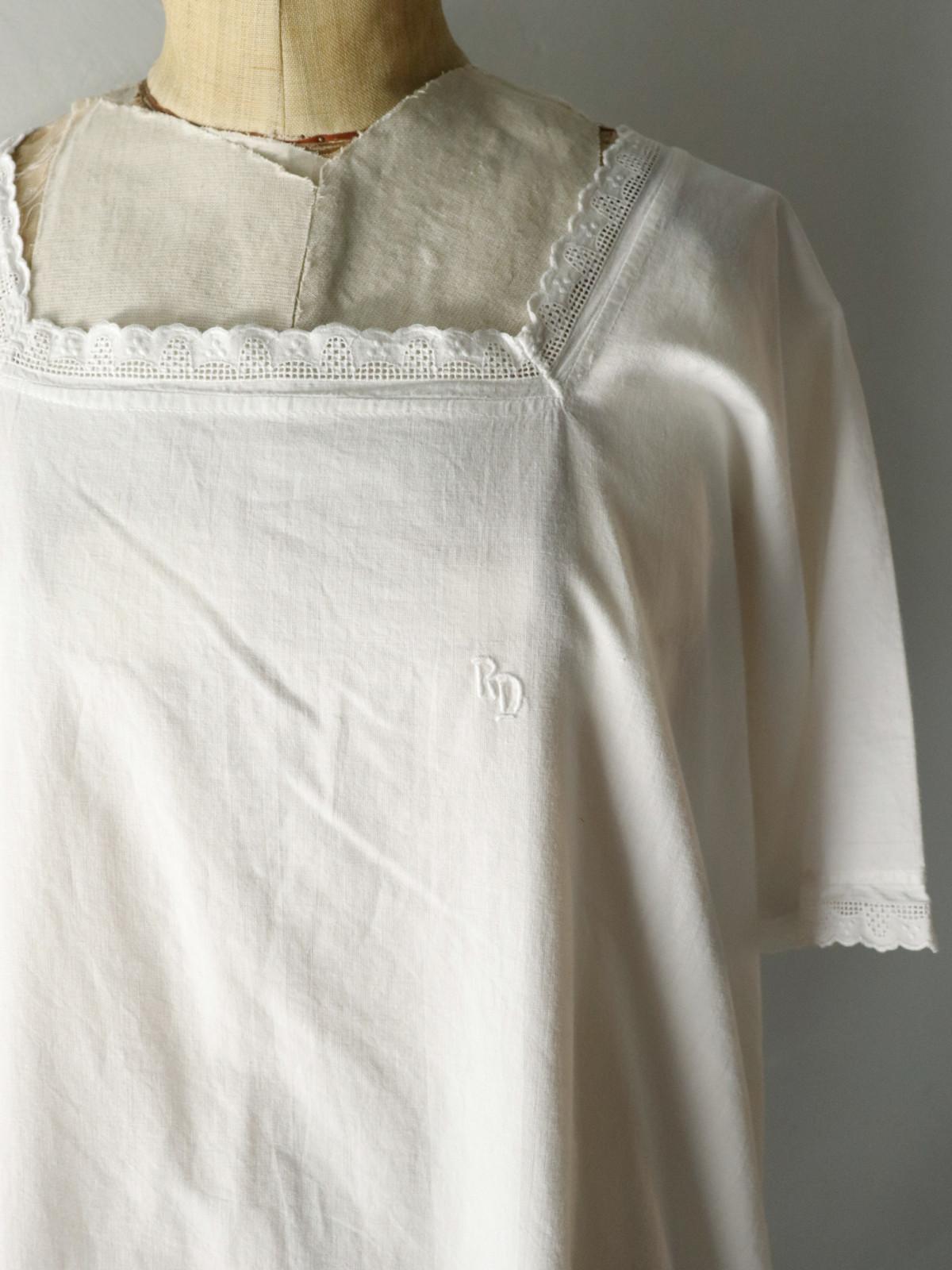 _vintage,europe,linen,cotton,nightwear,lace,enbroidery,onepiece