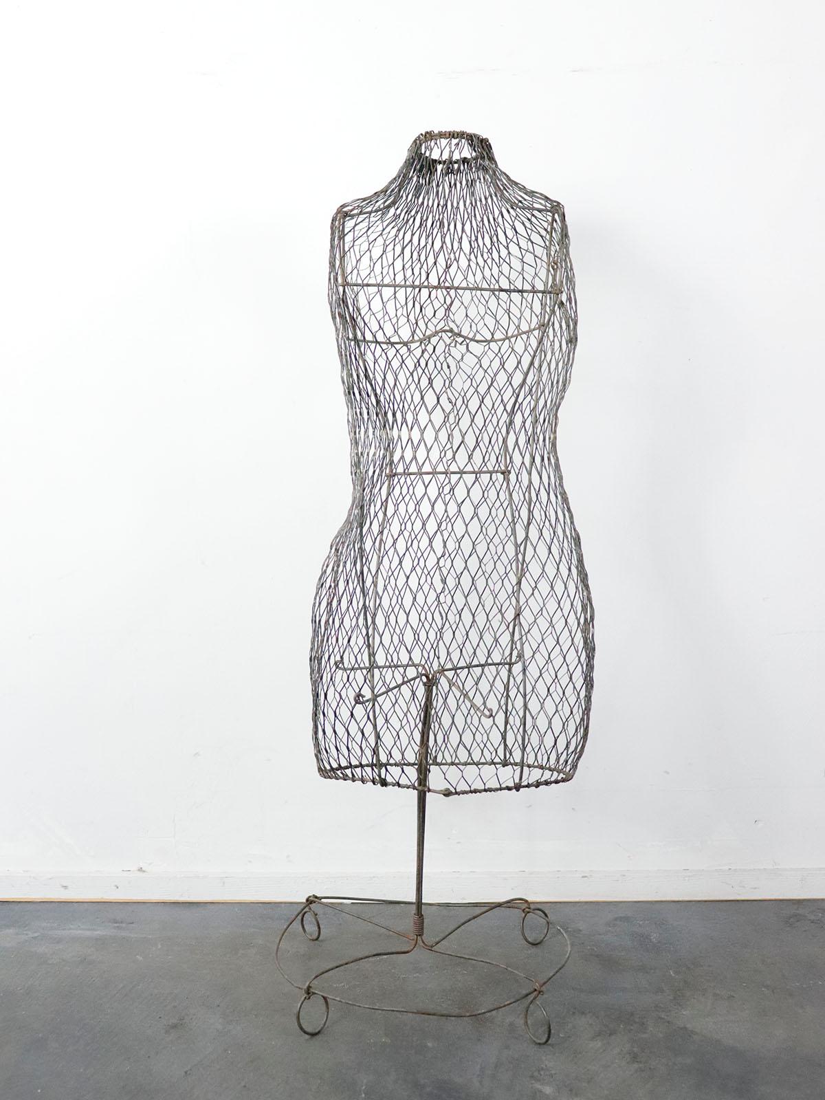 wire metal torso,usa,vintage,folding torso