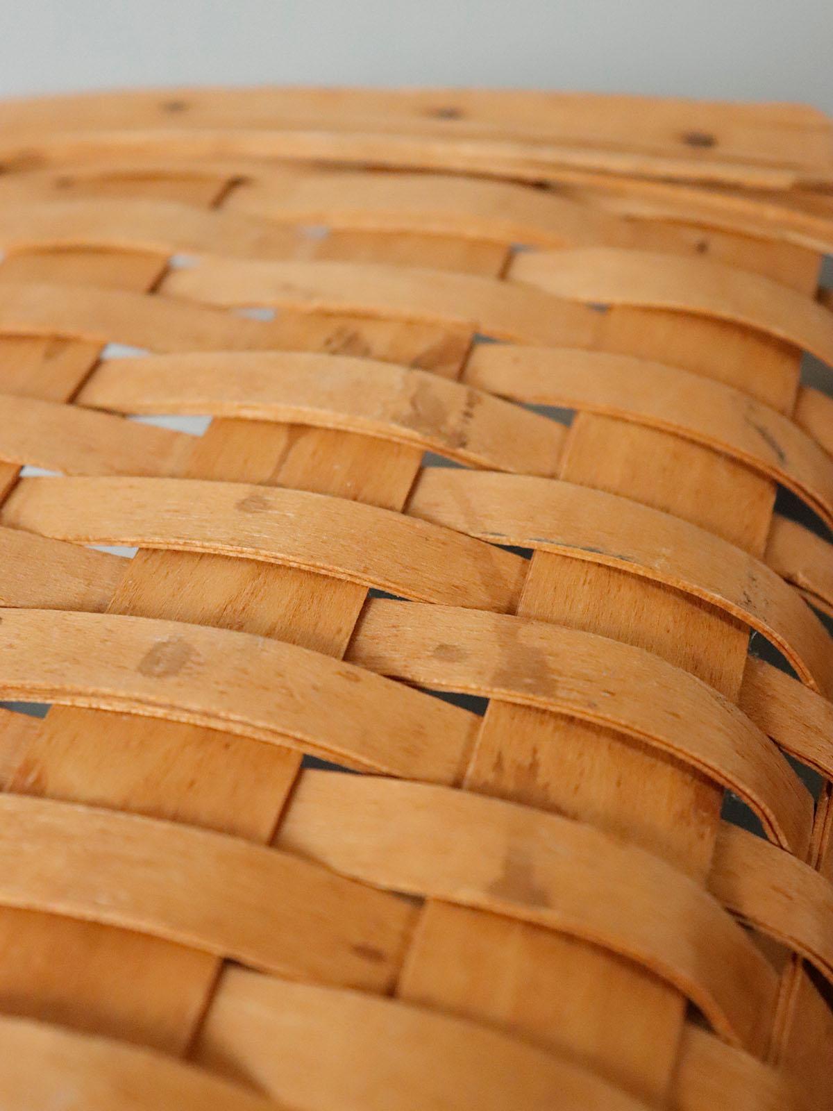 longaberger baskets company,USA,vintage,wood basket,handmade