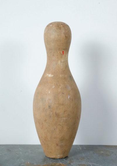1920's,wood,bowling pin,usa,antique