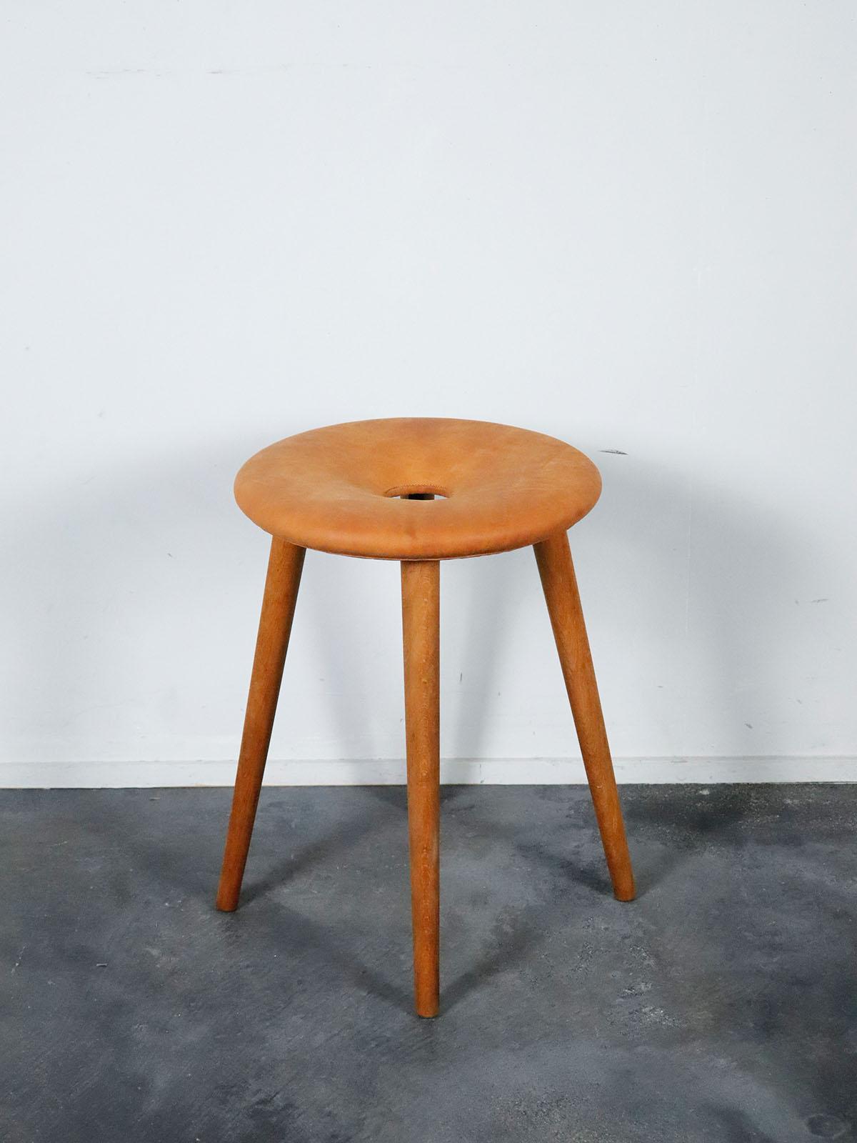 vintage,stool,remake,japan,leather x wood