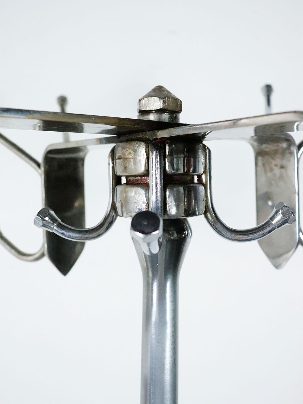 PEEDEES,1940-50's,USA,vintage,industrial,coat rack,steel