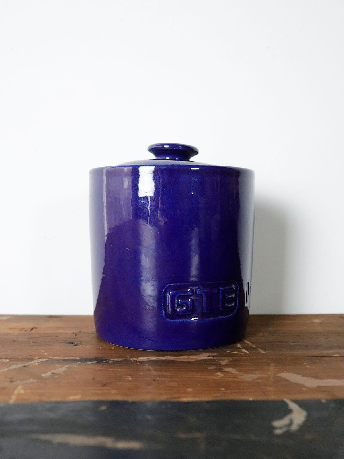 vintage,GTE Mobilnet,heath ceramic,USA,pottery,jar,