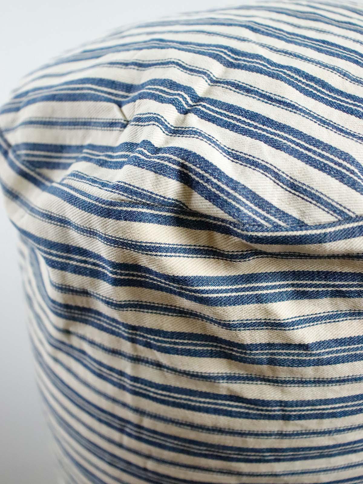 BROWN.remake,cushion,bolster,vintage,ticking,cotton,USA