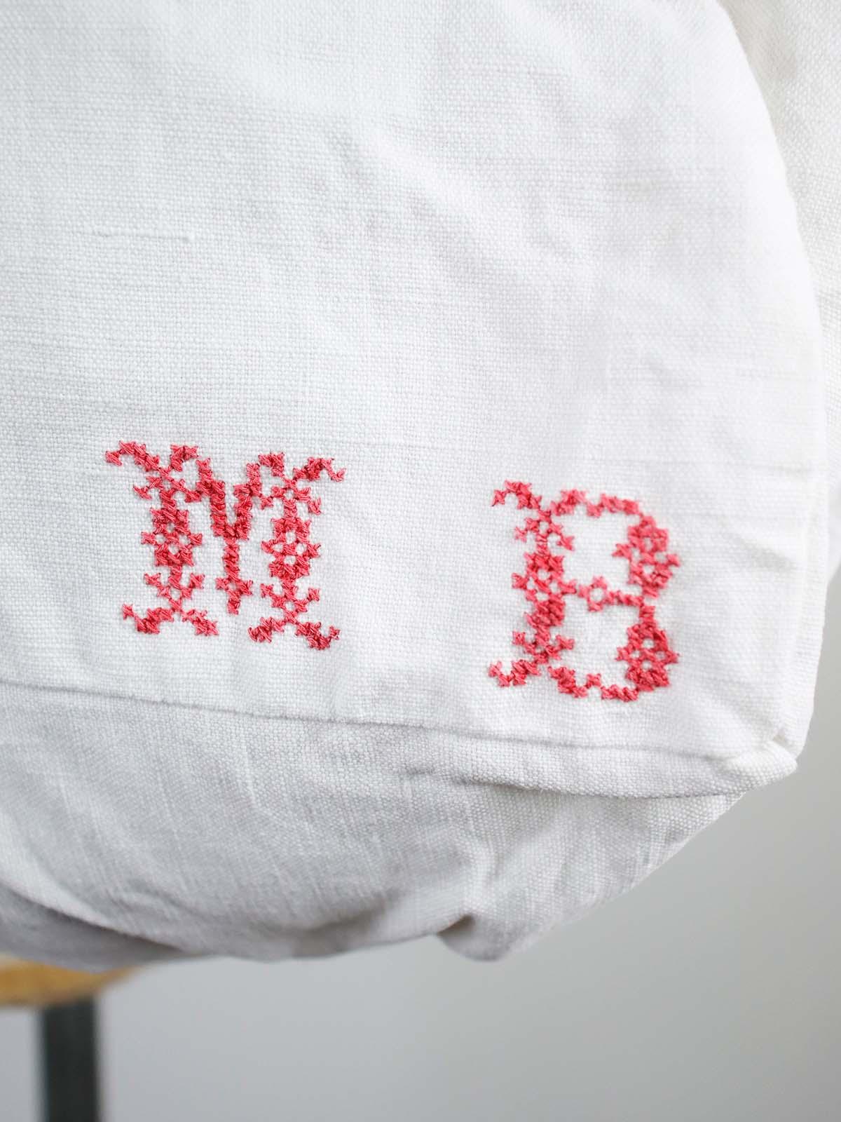 BROWN.remake,vintage,linen fabric,bag,france,french linen