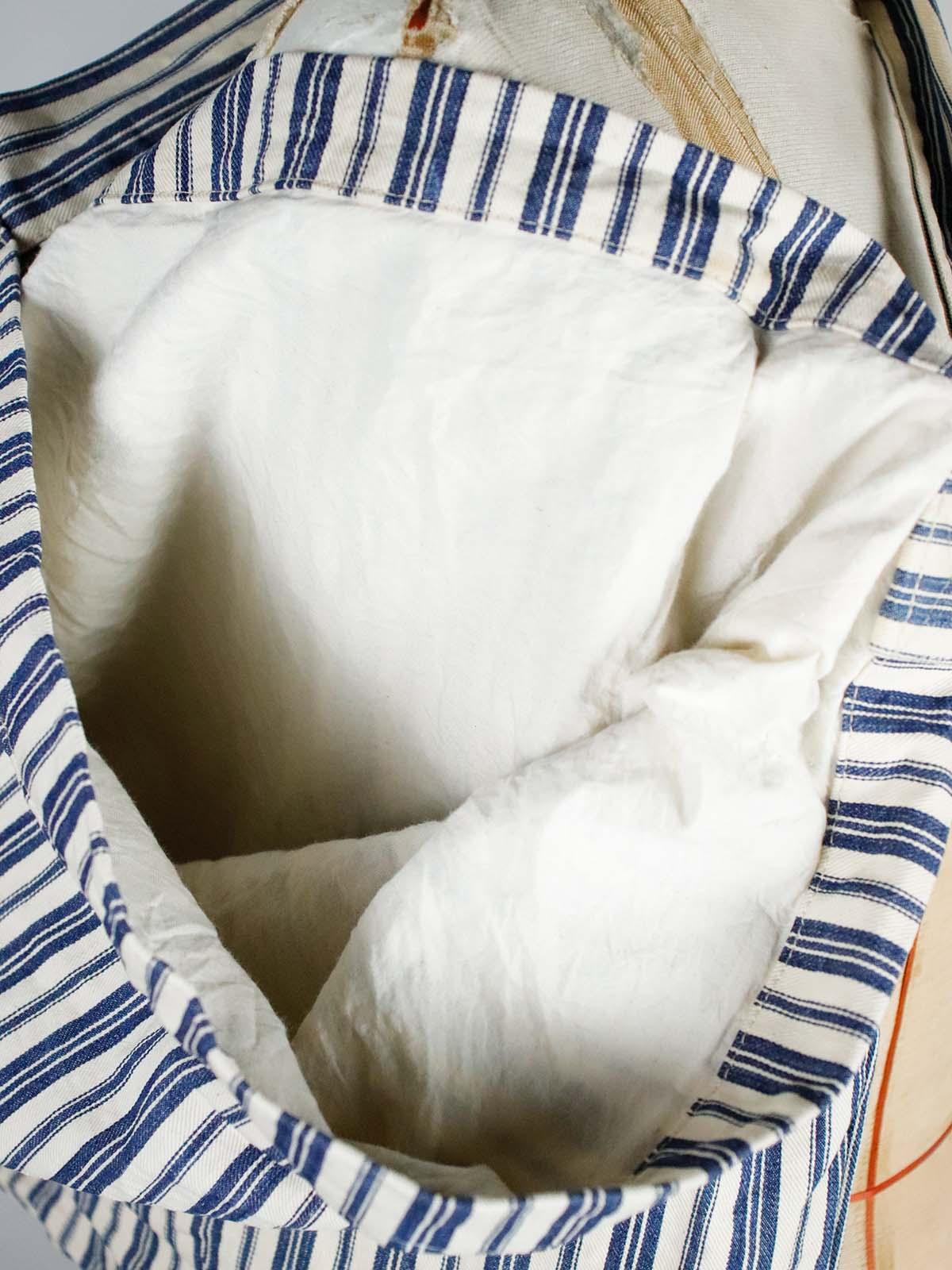 BROWN.remake,bag,vintage,ticking,cotton,USA